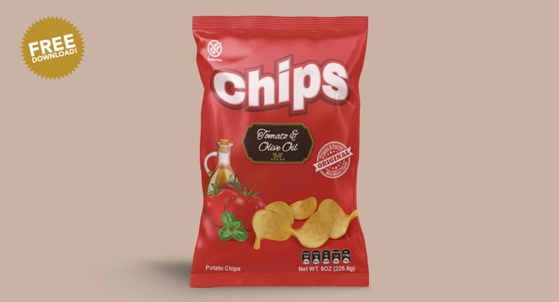 Chips Packaging Mockup PSD Free