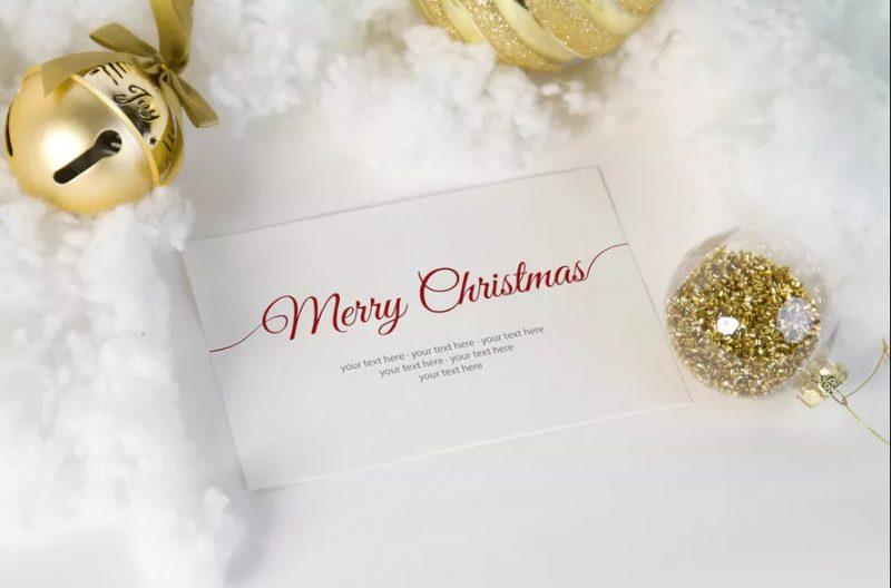 Christmas Invitation Card Mockup