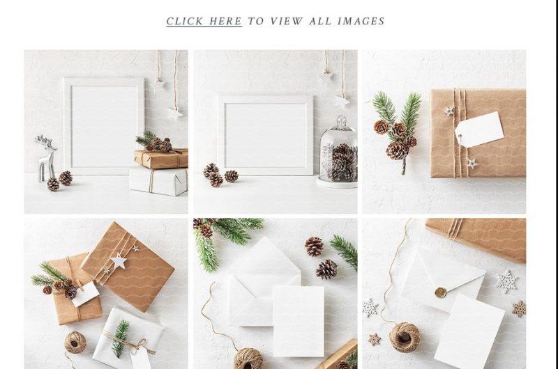 Christmas Invitation Mockup PSD