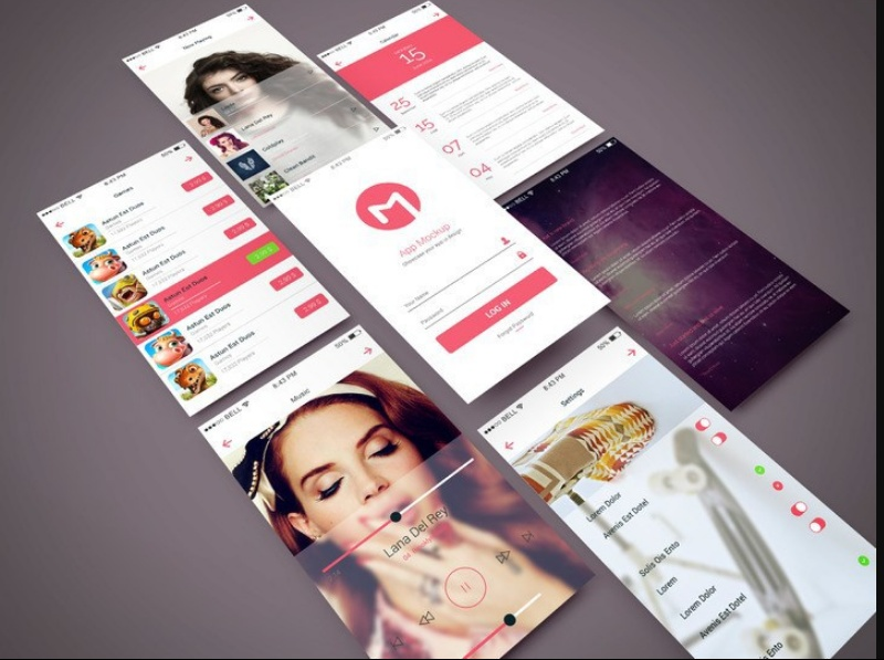 Clean App Screen Mockup PSD