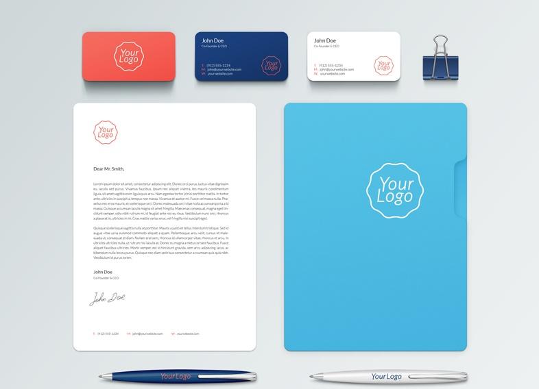 Clean Branding Idntity Mockup PSD