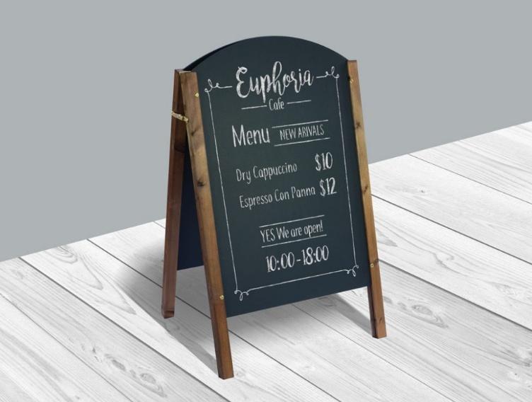 Clean Chalkboard Menu Mockup PSD