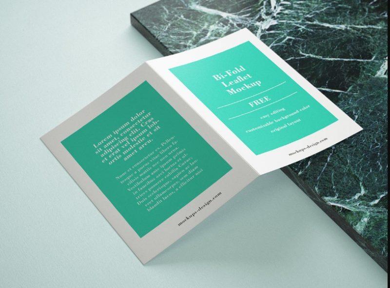 Clean Leaflet Mockup PSD