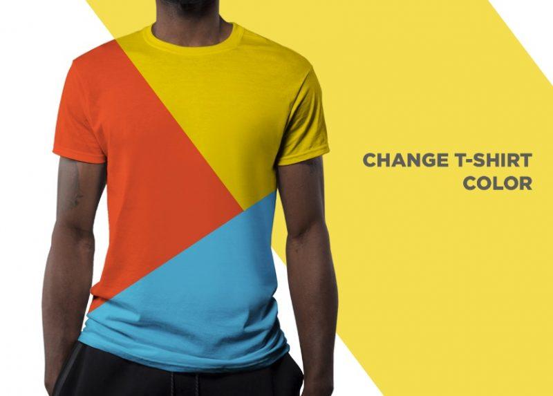 Color Editable T Shirt Mockup PSD