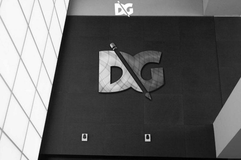 Company Wall Logo Mockup