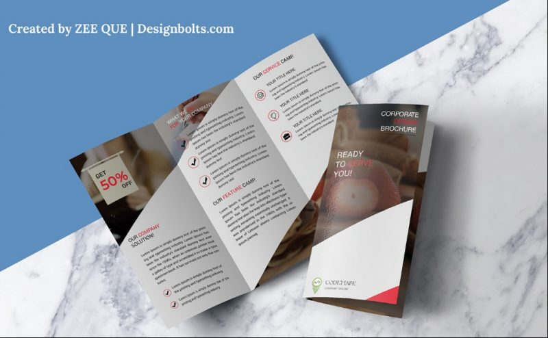 Corporate Brochure Template With Mockup