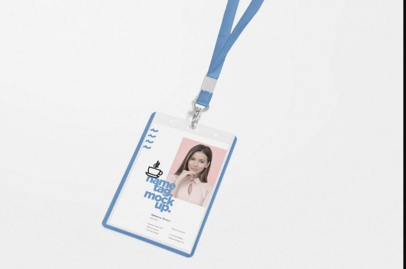 Corporate ID Card Mockup PSD