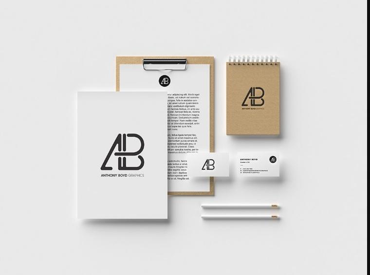 Creative Stationary Branding Mockup PSD