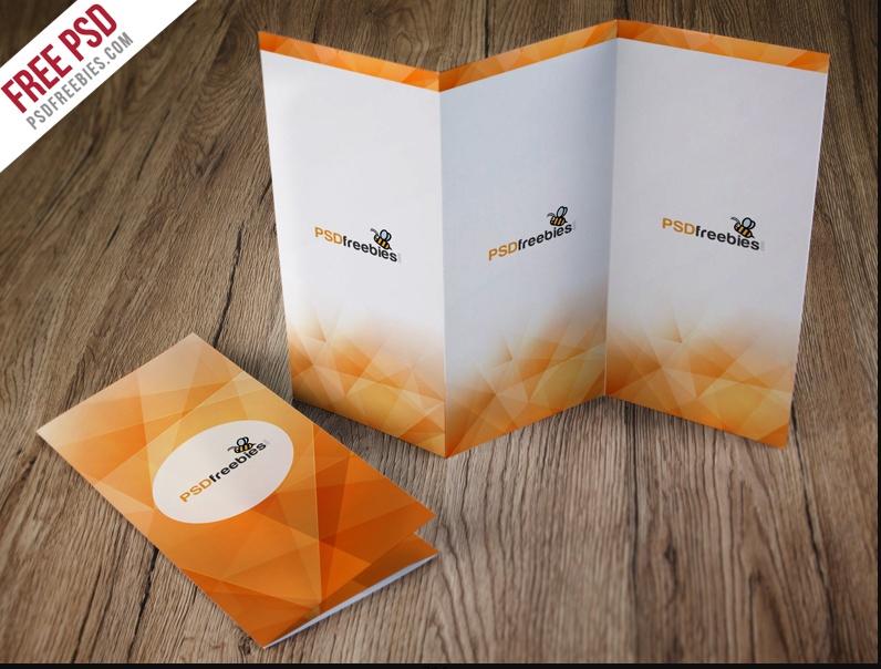 Creative Tri Fold Brochure Mockup Temolate
