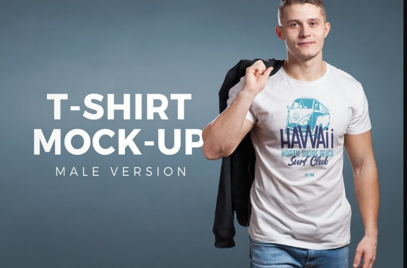 Crew Neck T Shirt Mockup