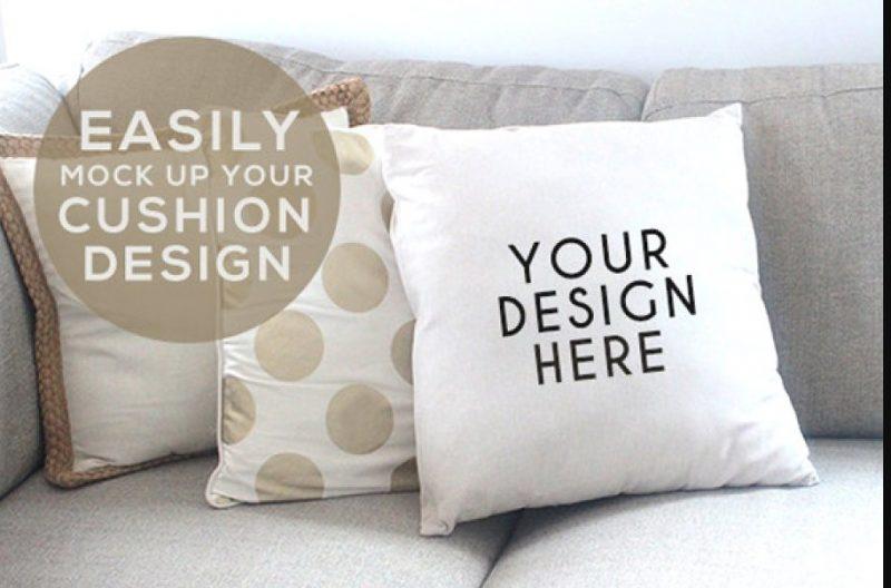 Cushion Stock Photo Mockup