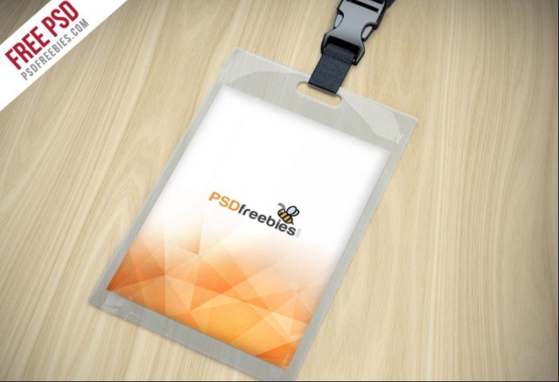 Customizable Identity Card Mockup