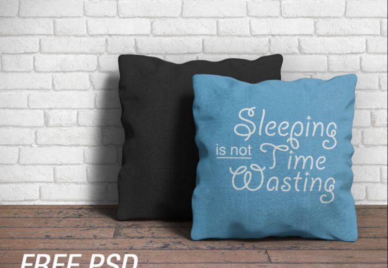 Customizable Pillow Mockup PSD
