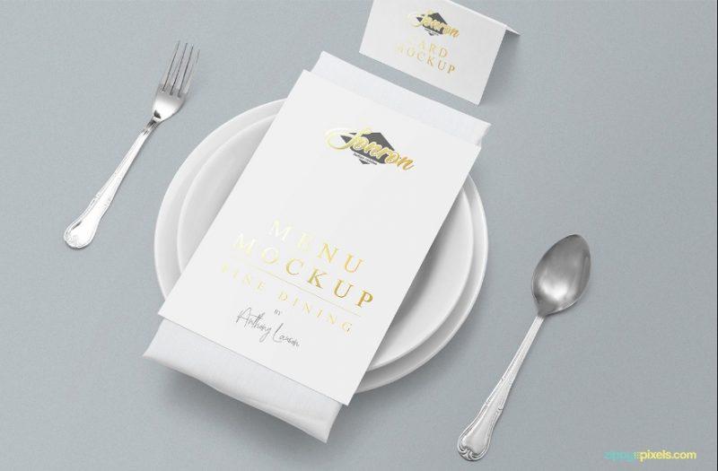 Customizable Restaurant Menu Mockup PSD Free