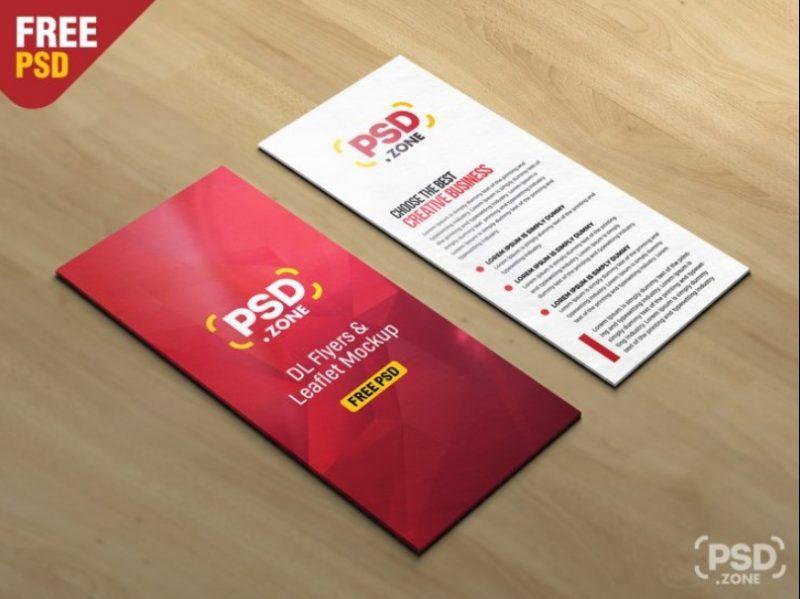 DL Leaflet Mockup PSD Free