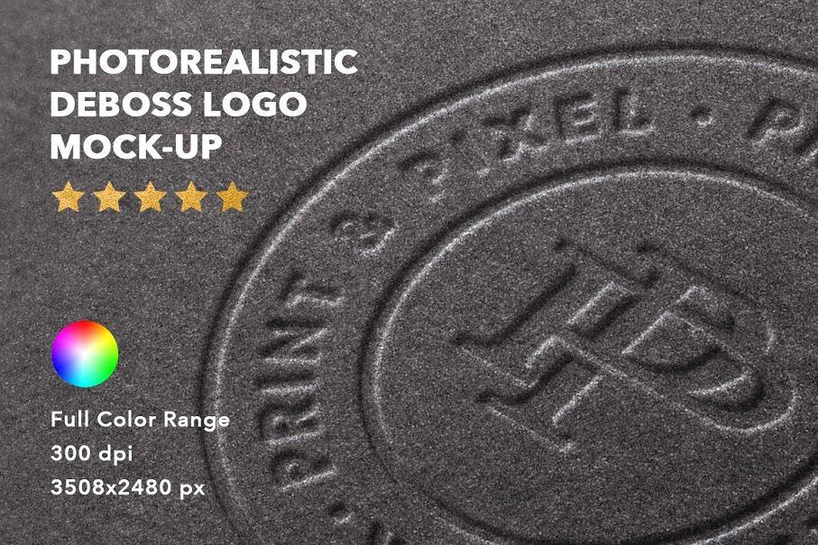 Deboss-logo-mock-up-badge