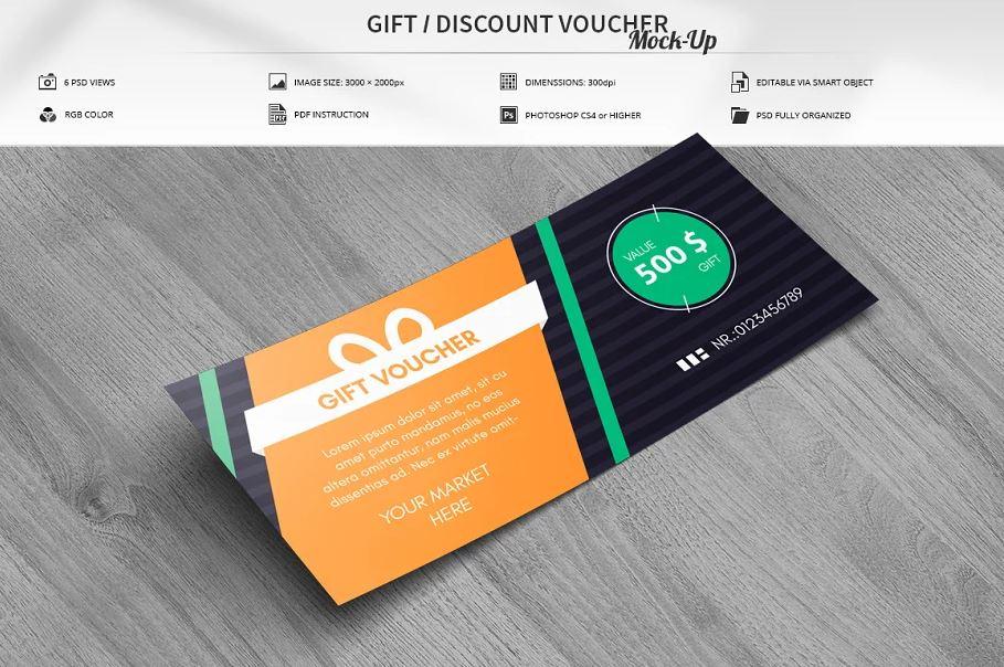 Discount Voucher Mock-Up