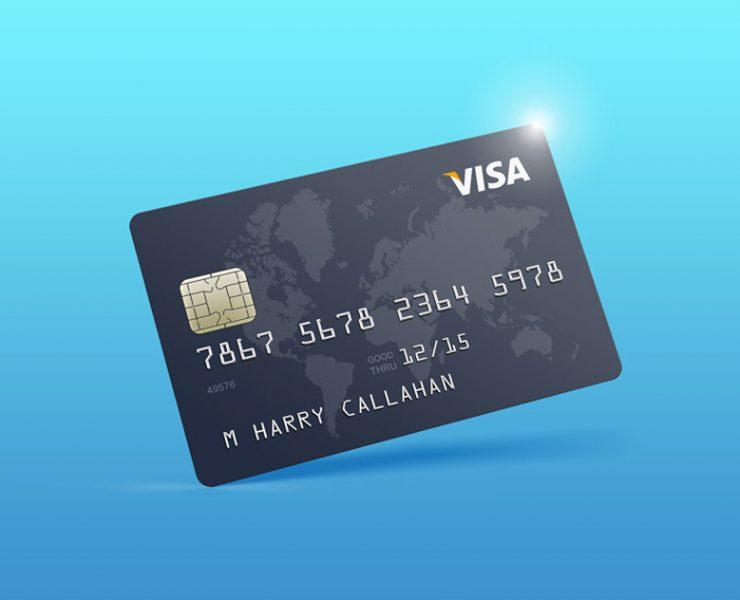 11+ Realistic Credit Card Mockup PSD Free Download