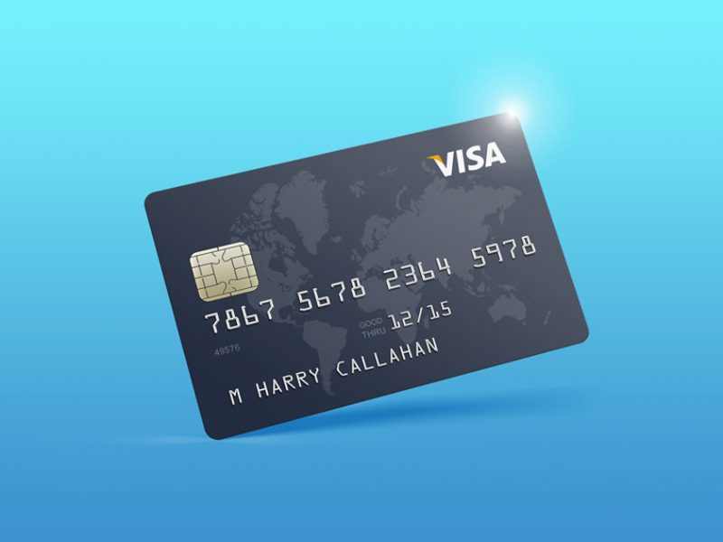 Easy Editable Bank Card Mockup