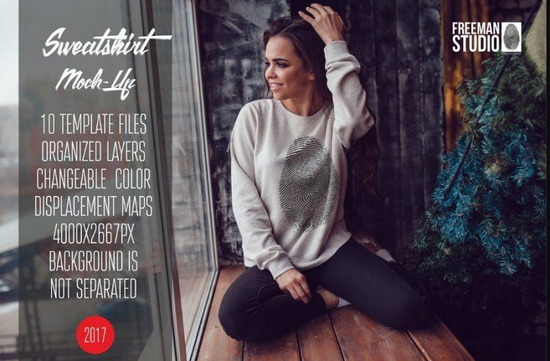 Easy Editable Sweatshirt Mockup PSD