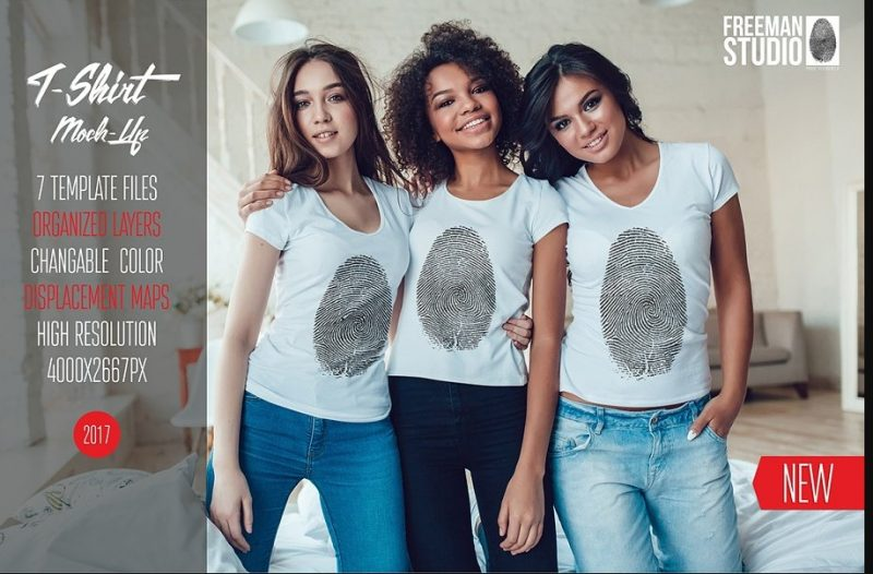 Easy Editable Womem T Shirts Mockup
