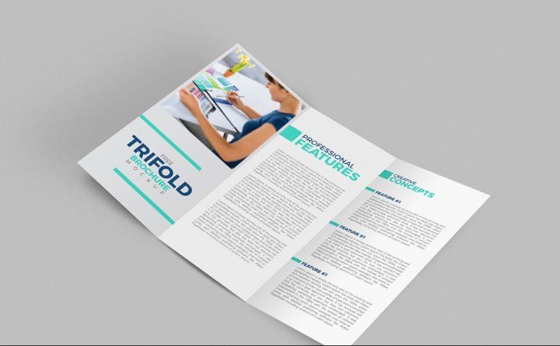 Editable Free Tri Fold Brochure Mockup
