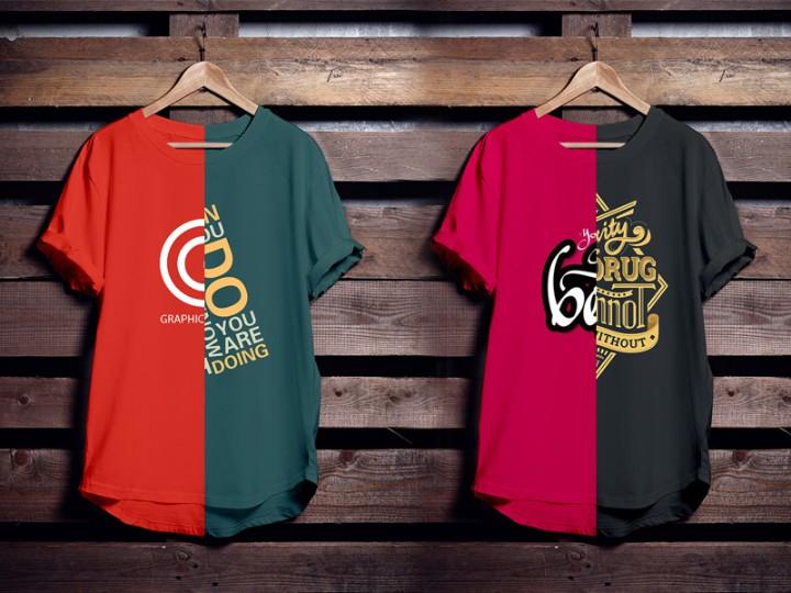 Editable Hanging T Shirt Mockup PSD
