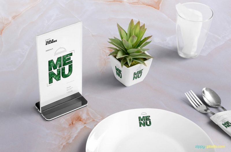 Editable Menu Mockup PSD