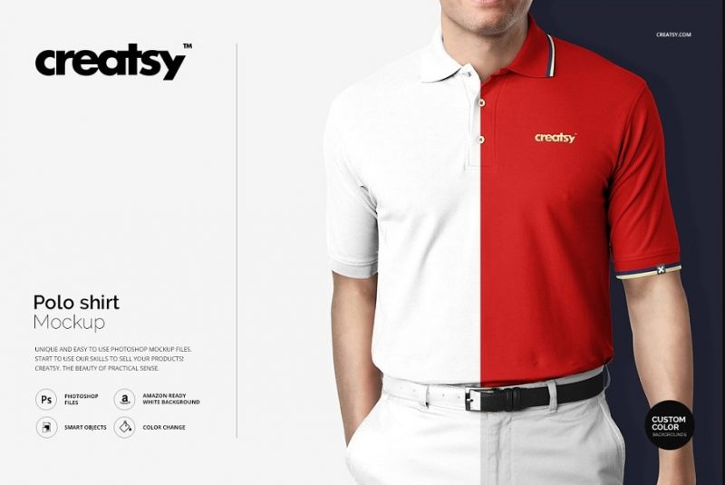 Editable Polo Shirt Mockup PSD