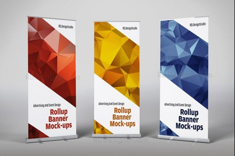 Editable Roll Up Banner Mockup