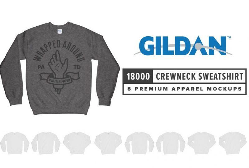 Editable Sweatshirt Mockup PSD