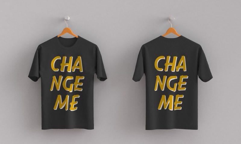 Editable T Shirt PSD Mockup