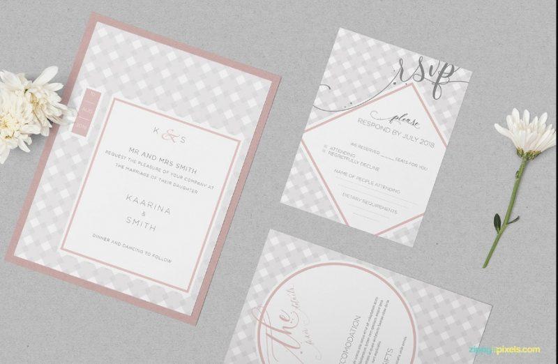 Editable Wedding Imvitation Mockup