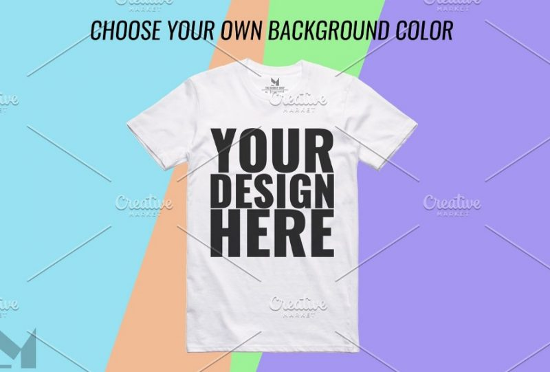 Editable White T Shirt Mockup Design