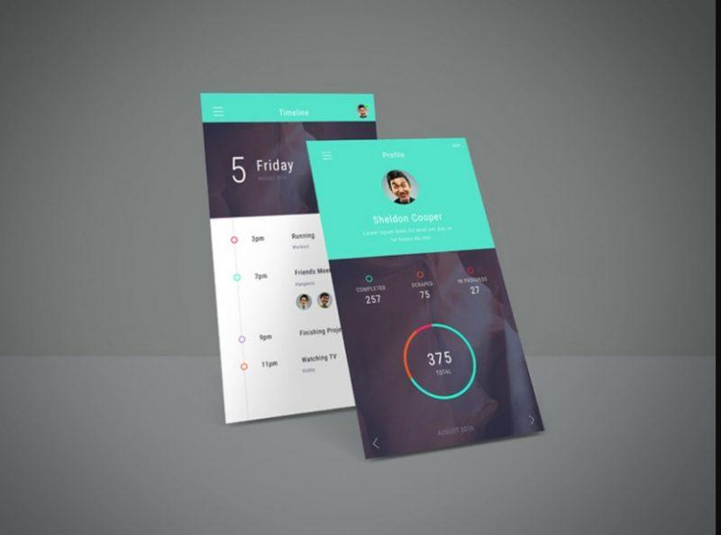 Elegant App Screen Mockup