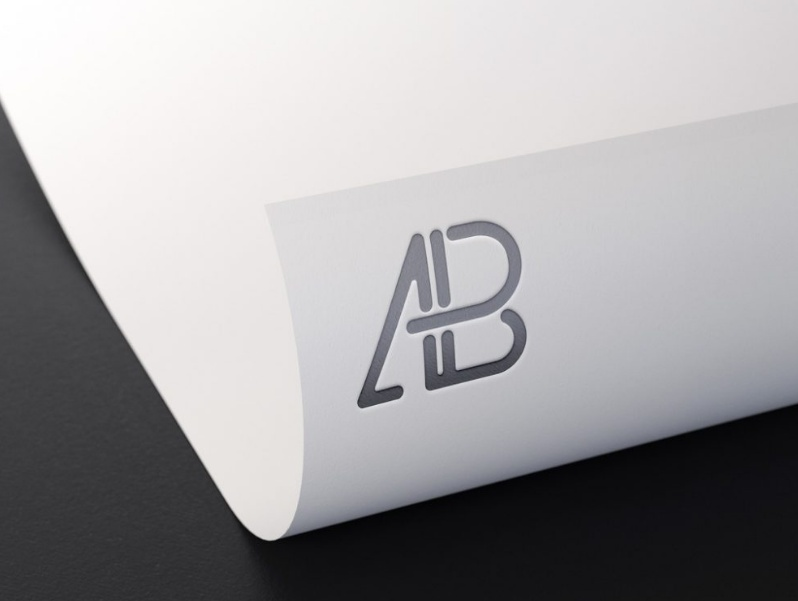 Embossed Logo Mockup on Paper