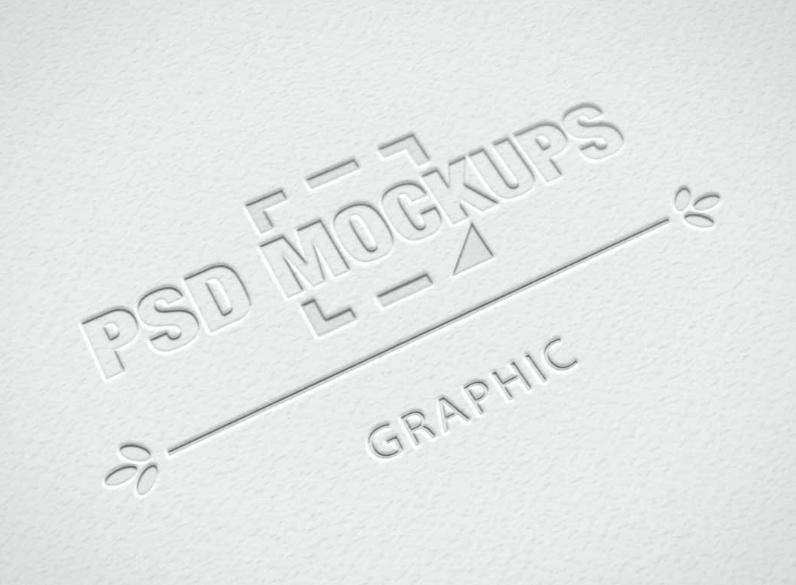 Embossed Logo Mockup on Stationary