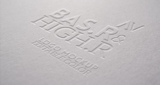Embossed Logo Presentation Mockup