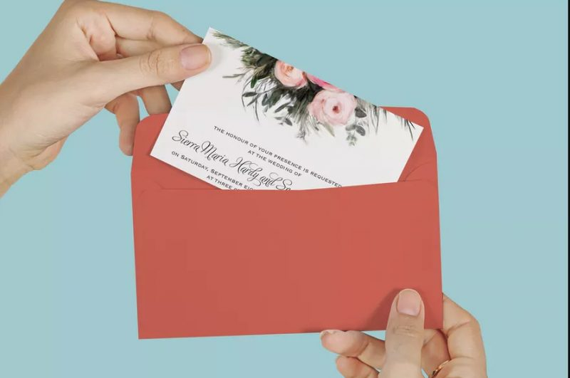 Envelope Invitation Mockup