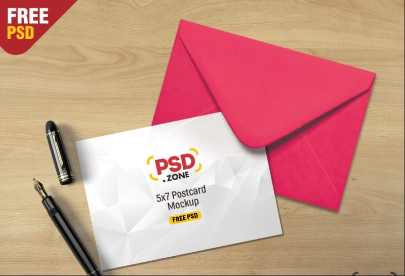 Envelope and Postcard Mockup PSD