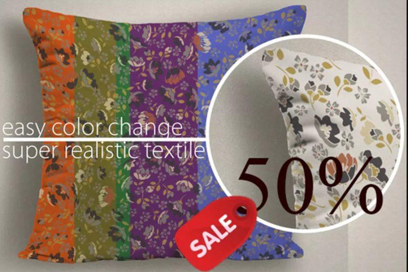 Fabric Cushion Mockup PSD