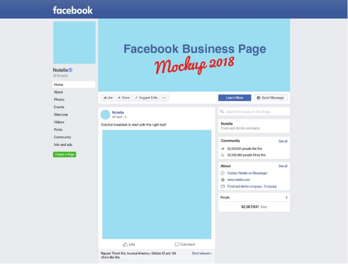 Facebook Business Page Mockup