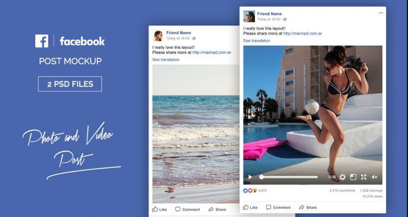 Facebook Post Mockup Free