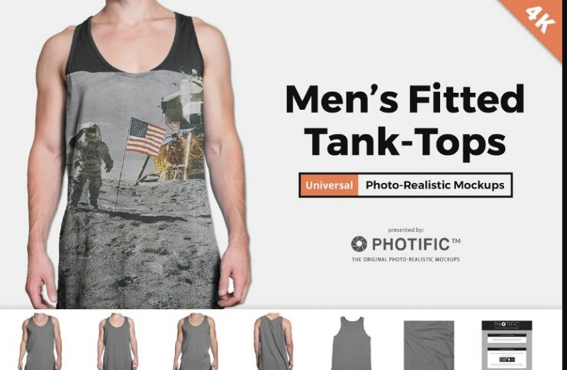 Fitted Tank Top Mockup PSD