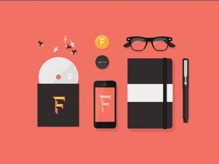 Flat Branding Identity Mockup Free Download