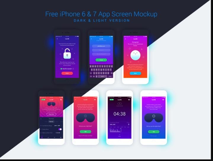 Flat iPhone App Screen Mockup