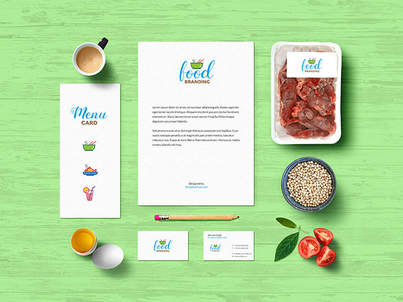 Food Branding Idenity Mockuo PSD