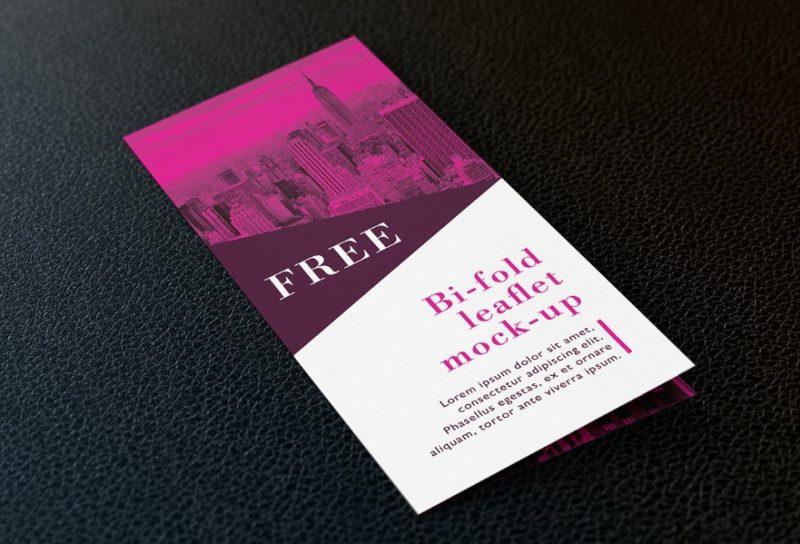 Free Bi Fold Leaflet Mockup PSD