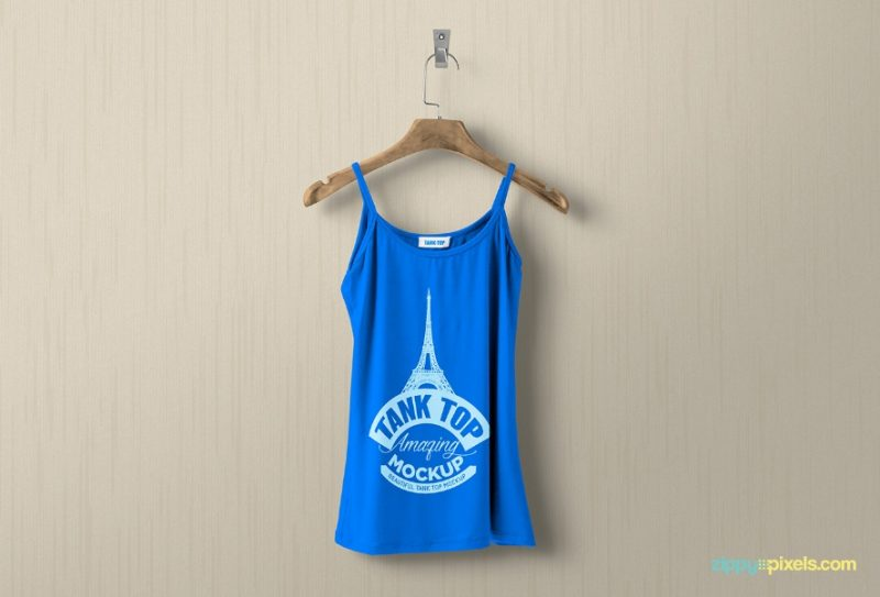 Free Customizabke Tank Top Mockup