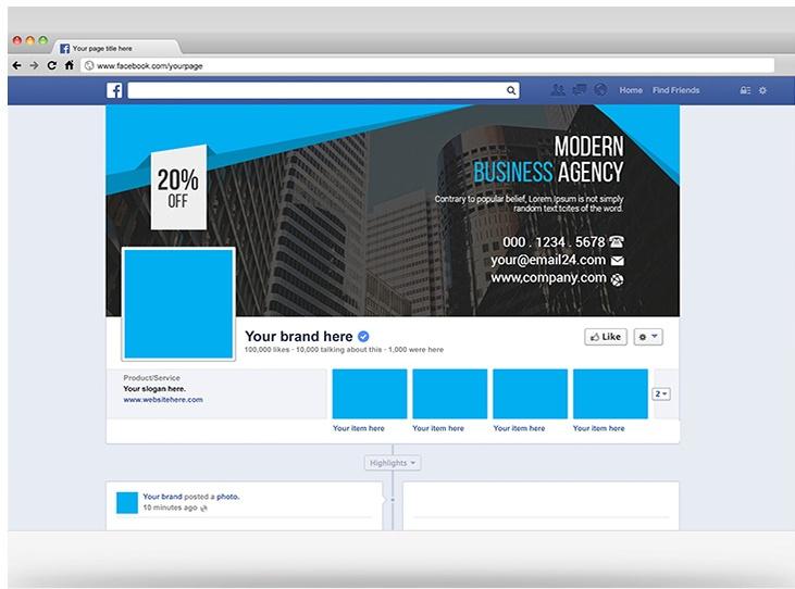 Free Facebook Profile Mockup